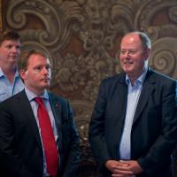 Mit Peer Steinbrück im Passauer Rathaus